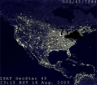 Pic from http://www.physics.sfasu.edu/astro/img/blackout_from_space.jpg